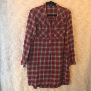 MADEWELL flannel dress with pockets size large